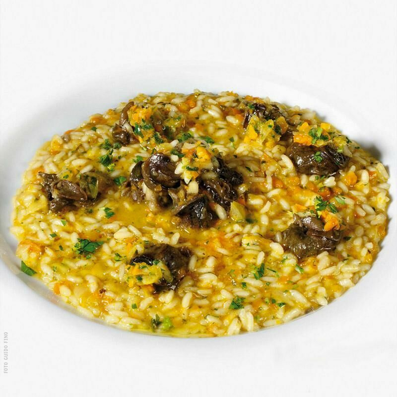 Risotto with snails