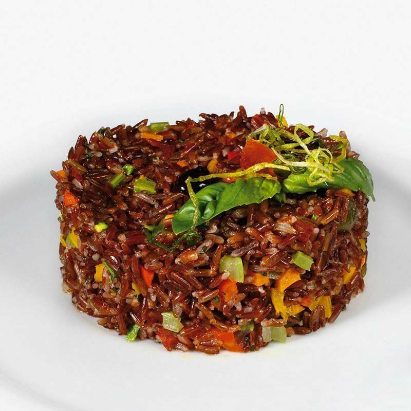 Riso integrale rosso Ermes con piccole verdure