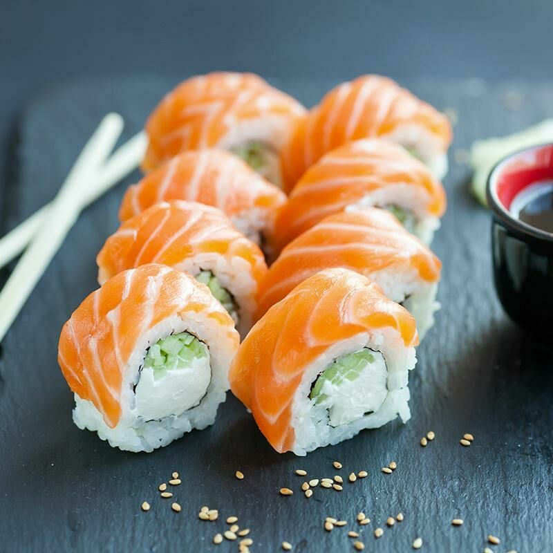 Sushi with salmon and Philadelphia